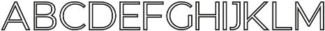 GANTIC Outlines ttf (400) Font UPPERCASE