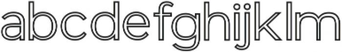 GANTIC Outlines ttf (400) Font LOWERCASE