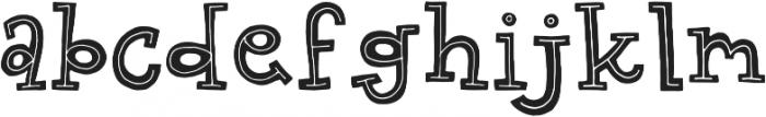 Gab Regular otf (400) Font LOWERCASE