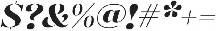 Gabriela Stencil Black It otf (900) Font OTHER CHARS