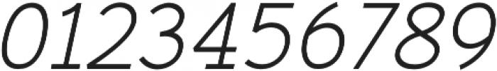 Gadera Italic otf (400) Font OTHER CHARS