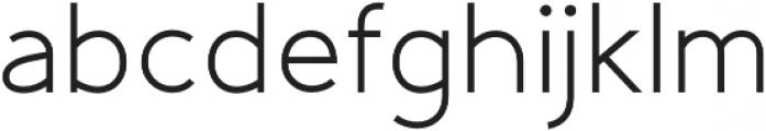 Gadera Regular otf (400) Font LOWERCASE