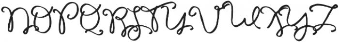 Galata Script otf (400) Font UPPERCASE