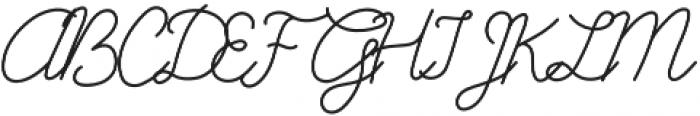 Galatee Script otf (400) Font UPPERCASE