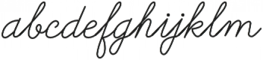 Galatee Script otf (400) Font LOWERCASE