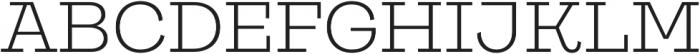 Galeria Alt Light otf (300) Font UPPERCASE