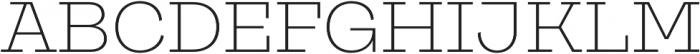 Galeria ExtraLight otf (200) Font UPPERCASE