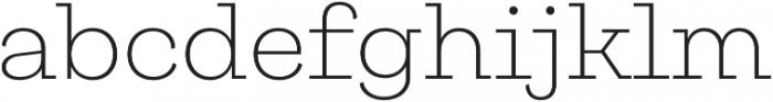 Galeria ExtraLight otf (200) Font LOWERCASE