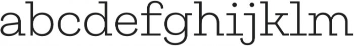 Galeria Light otf (300) Font LOWERCASE