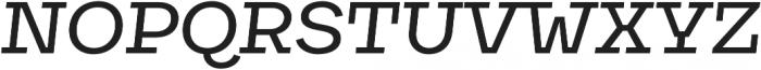Galeria Medium It otf (500) Font UPPERCASE