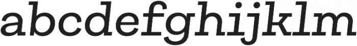 Galeria Medium It otf (500) Font LOWERCASE