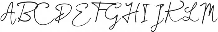 Galilei Script otf (400) Font UPPERCASE