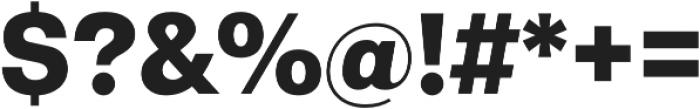 Gallad Black otf (900) Font OTHER CHARS