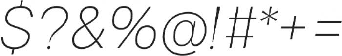 Gallad Thin Italic otf (100) Font OTHER CHARS
