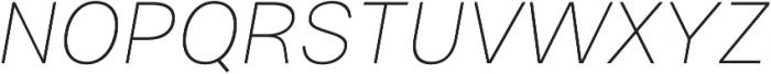 Gallad Thin Italic otf (100) Font UPPERCASE