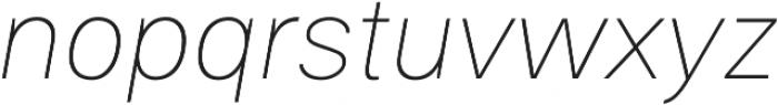 Gallad Thin Italic otf (100) Font LOWERCASE