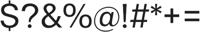 Gallad otf (400) Font OTHER CHARS