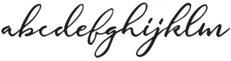 Gallendo otf (400) Font LOWERCASE