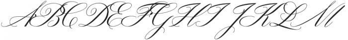Gallisia Script Regular otf (400) Font UPPERCASE