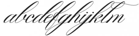Gallisia Script Regular otf (400) Font LOWERCASE