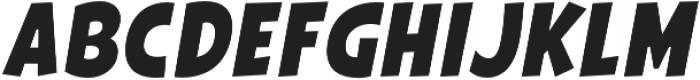 Galpon Normal Italic otf (400) Font UPPERCASE