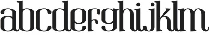 Gandula Regular otf (400) Font LOWERCASE