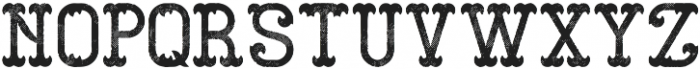 GangsterFont Aged otf (400) Font LOWERCASE
