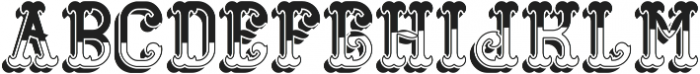 GangsterFont LightShadow otf (300) Font LOWERCASE