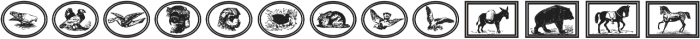 GansAnimals Regular ttf (400) Font UPPERCASE