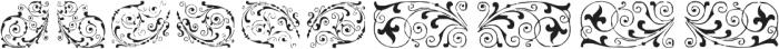 GansNeoclassicFleurons Regular ttf (400) Font LOWERCASE