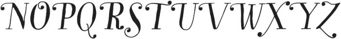 Garden Swash Alt Italic otf (400) Font UPPERCASE