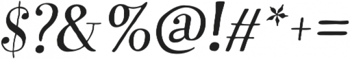 Garden Swash Italic otf (400) Font OTHER CHARS