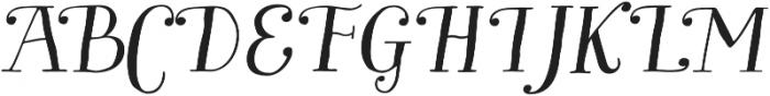 Garden Swash Italic otf (400) Font UPPERCASE