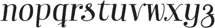 Garden Swash Italic otf (400) Font LOWERCASE