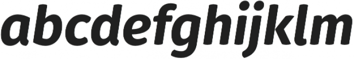 Gardenia ExtraBold Italic otf (700) Font LOWERCASE