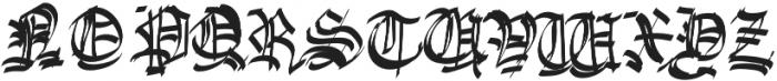 Gargoyle Regular otf (400) Font UPPERCASE