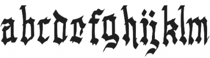 Gargoyle Regular otf (400) Font LOWERCASE