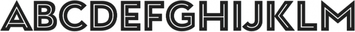 Garnet Capitals Inline otf (400) Font LOWERCASE