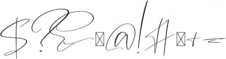 Garnet Night Script Font otf (400) Font OTHER CHARS
