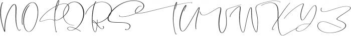 Garnet Night Script Font otf (400) Font UPPERCASE