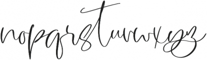 Garnet Night Script Font otf (400) Font LOWERCASE