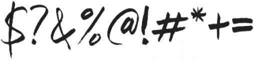 Garong otf (400) Font OTHER CHARS