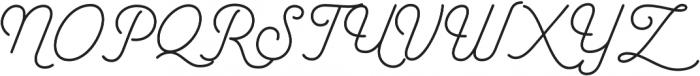 Garris Light otf (300) Font UPPERCASE