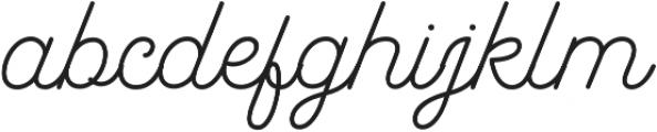 Garris Light otf (300) Font LOWERCASE