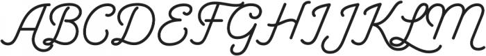 Garris otf (400) Font UPPERCASE
