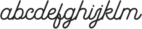 Garris otf (400) Font LOWERCASE
