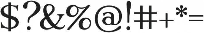 Gatsby Modern otf (400) Font OTHER CHARS