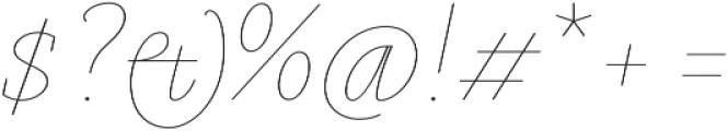 Gauthier Display FY Thin Italic otf (100) Font OTHER CHARS