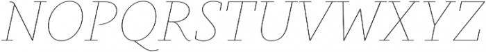 Gauthier Display FY Thin Italic otf (100) Font UPPERCASE