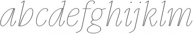 Gauthier Display FY Thin Italic otf (100) Font LOWERCASE